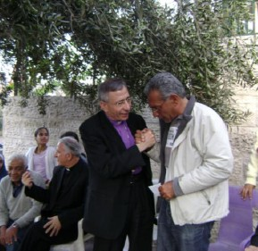 Heads of Churches in Jerusalem showing solidarity with Hanouns