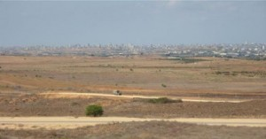 Overlooking Gaza from hill near Sderot