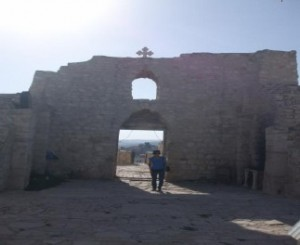 Ruined church at Christian town of Taybeh (Efrain)